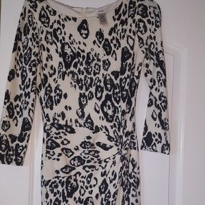 Cache warm knitted leopard dress